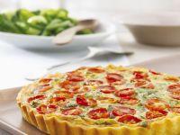 Tomato and Green Leaf Quiche recipe