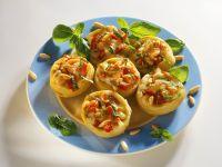 Tomato and Mozzarella Stuffed Artichokes recipe