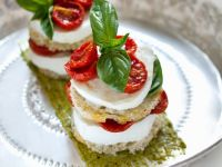 Tomato and Mozzarella Towers with Basil recipe