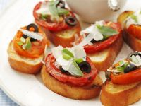 Tomato and Olive Toasts recipe