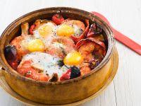 Tomato and Pepper Gratin with Eggs recipe