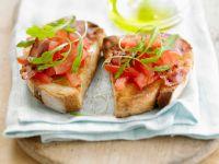 Tomato and Pork Crostini Bites recipe