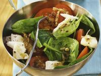 Tomato and Spinach Salad with Goat Cheese recipe