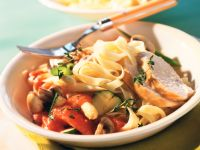 Tomato and Vegetable Pasta with Chicken Breast recipe