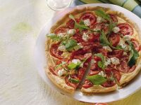 Tomato, Cheese and Arugula Pizza recipe