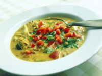 Tomato Curry Soup with Lentils recipe