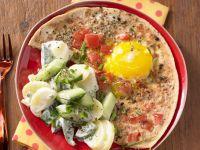 Tomato Eggs with Potato Salad recipe