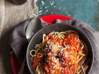 Tomato Meatballs with Pasta recipe