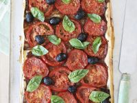 Tomato, Olive and Onion Tart recipe