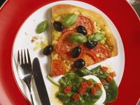 Tomato Pizza with Olives recipe