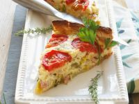 Tomato Quiche with Turkey Ham recipe