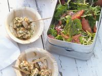 Tomato Salad with Grapefruit and Turkey recipe