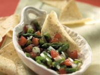 Tomato Salsa with Green Asparagus recipe