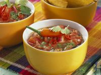 Tomato Salsa with Tortilla Chips recipe
