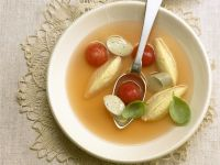 Tomato Soup with Cheese Dumplings recipe