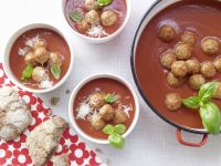 Tomato Soup with Meatballs recipe
