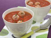 Tomato Soup with Meatballs recipe