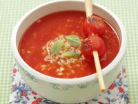 Tomato Soup with Rice and Lemongrass recipe