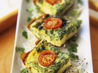 Tomato Spinach Frittata recipe