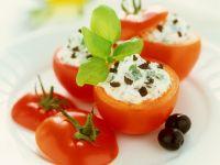 Tomato Stuffed with Cream Cheese recipe