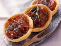 Tomato Tartlets with Anchovies recipe