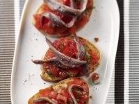 Tomato Toasts with Preserved Fish recipe