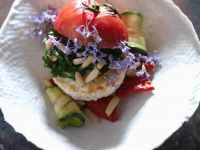 Tomato with Grilled Vegetables and Goat Cheese recipe