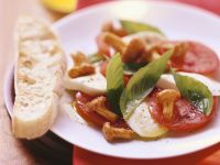 Tomatoes and Mozzarella with Mushrooms recipe