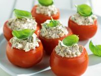 Tomatoes Stuffed with Ricotta and Bacon recipe