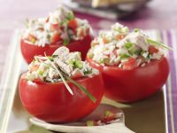 Tomatoes Stuffed with Tuna and Rice recipe