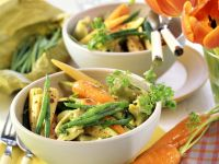 Tortellini with Spring Vegetables recipe