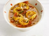 Tortellini with Tomato Vegetable Sauce recipe