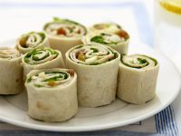 Pork and Salad Wraps recipe