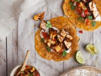 Tortillas with Salmon and Fruity Salsa recipe
