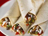 Tortillas with Steak-Vegetable Filling recipe
