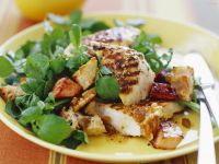 Tossed Salad with Grilled Chicken and Bacon-Pear Dressing recipe