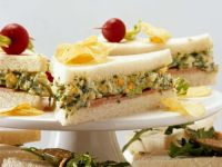 Tramezzini with Ham, Lettuce and Egg Salad recipe