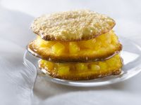 Tropical Cookie and Fruit Stack recipe