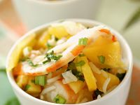 Tropical Fruit and Shrimp Bowls recipe