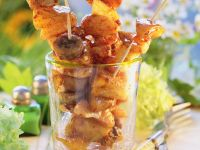 Tropical Turkey-Chicken Skewers recipe