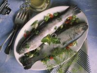 Trout Stuffed with Herbs and Garlic recipe