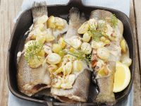 Trout with Almonds and Grapes recipe