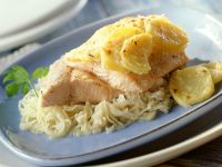 Trout with Potatoes with Sauerkraut recipe