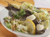 Trout with Salad and Horseradish Cream recipe