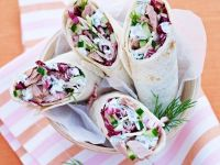 Fish Salad Tortilla Roulades recipe