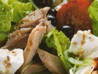 Tuna Feta Salad with Olives recipe