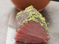 Tuna Fillet with Poppy Seeds and Lime Zest recipe