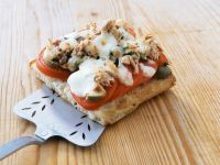 Tuna, Olive and Mozzarella Pizza on Ciabatta recipe