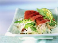 Tuna on Asian Noodle Salad recipe