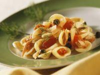 Tuna Orecchiette with Capers, Fennel and Tomatoes recipe